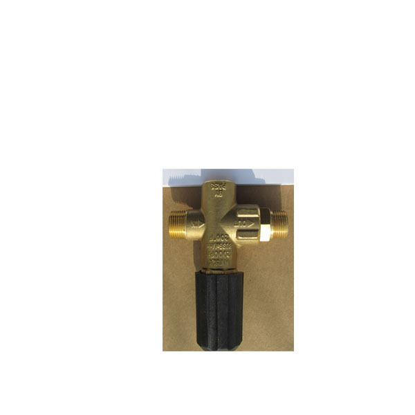 Pumptec 70035 Unloader Pressure Regulator 1000-1200 PSI MV520_VR54_VB3_23-095 3/8 M(2) F(1) Ports Gold Spring