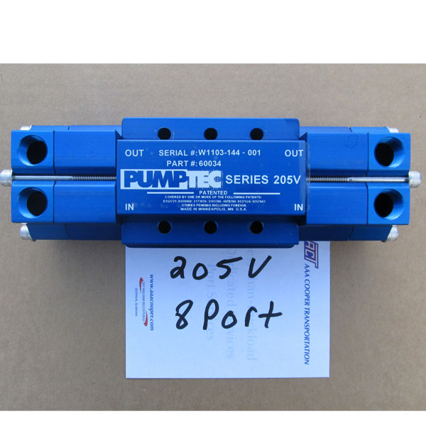 Pumptec 207V Pump Head Only 8 Port 500 Psi Fits Mytee Products Extractors 60034 (New Number 60107)