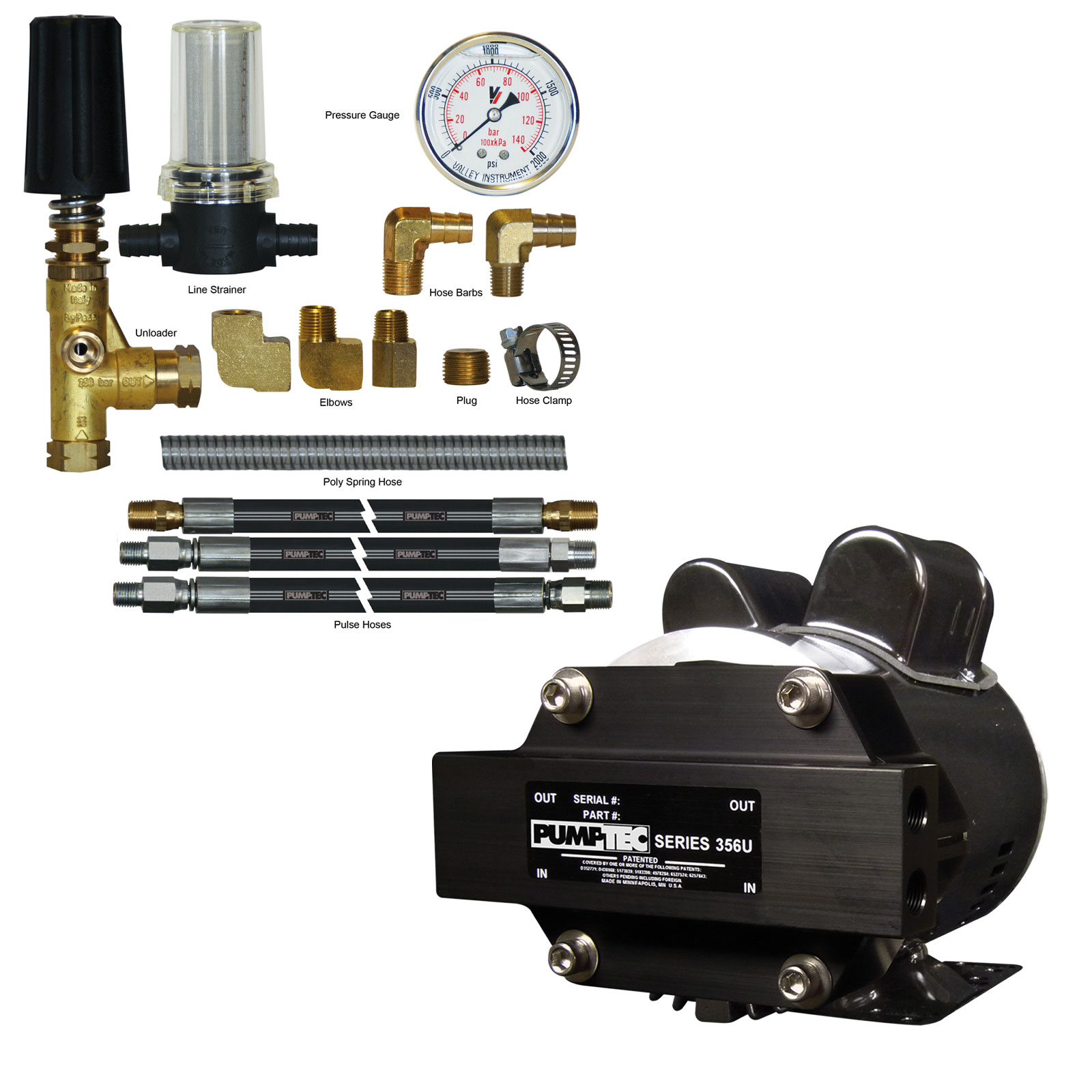 Pumptec NM5057 Tile Cleaning Pump Conversion Kit 1200psi 2.2Gpm 1609-2330 UPC 768724751607