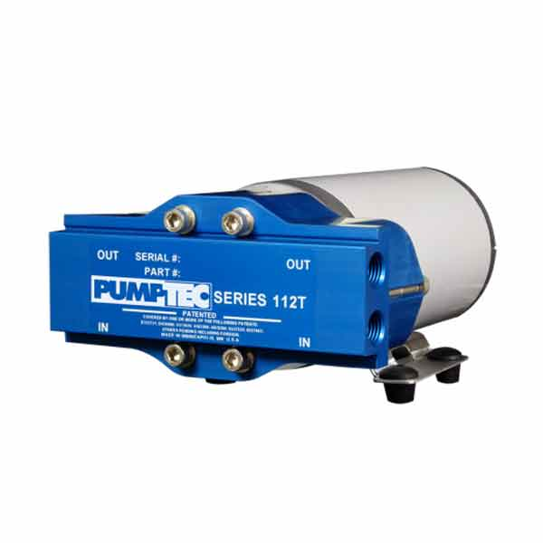 "Pumptec 80705 Pump Assembly 112T-075/M35-8, 120V, Buna, P-Valve, 4 - 1/4"" Ports, Blue (Being replaced with M70 Motor)"