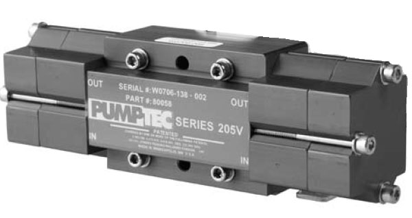 Pumptec 205V Pump Head Only (5-Port) 500Psi Fits Century 400