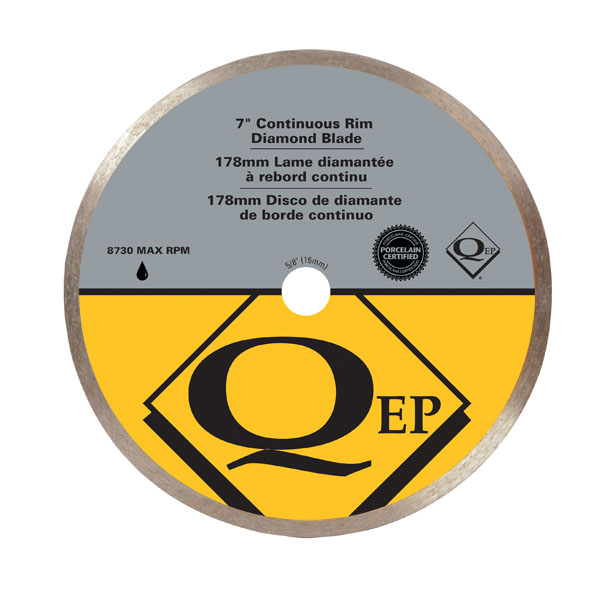 QEP 67003Q 7inch Continuous Rim Diamond Blade Wet Gold Series Premium