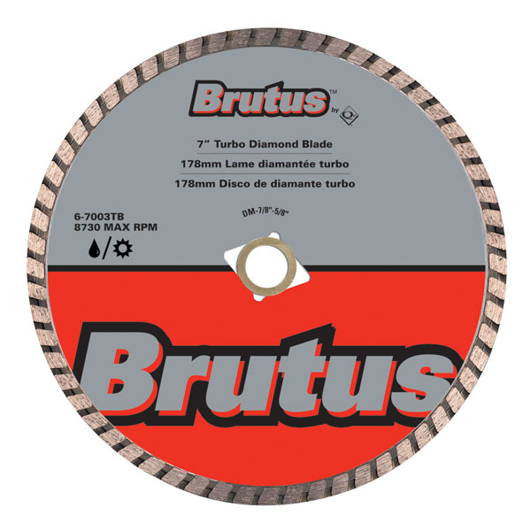 QEP 67003TB 7inch Brutus Turbo Diamond Blade Wet Dry