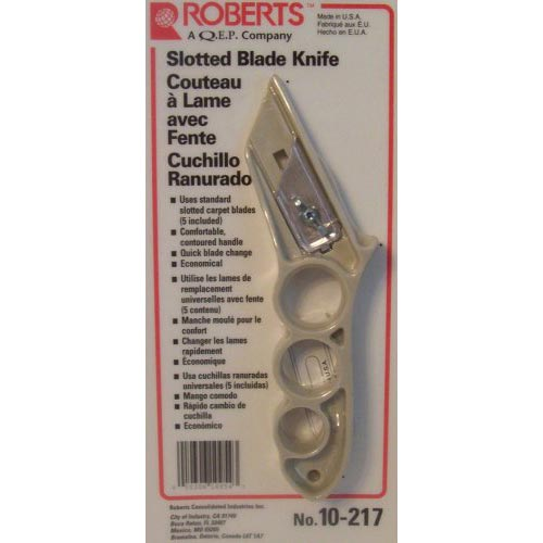 Roberts 10-217 Slotted Blade Carpet Knife