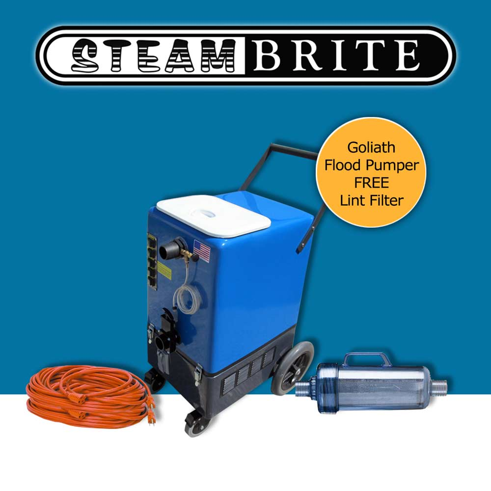 DriStorm Goliath Flood Pumper 26gal Four 2 Stage Vacs Pressure Washer Recovery 120v APO Lint Filtration SBM-GO-A SBMGOA