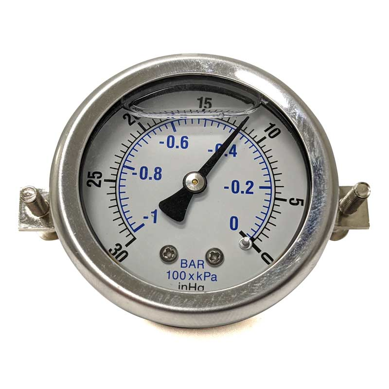 Clean Storm SBMVG Vacuum Gauge 2in Hole X 1/4in Mip Back Connection Fits most Truckmounts