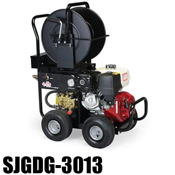 Shark SJGDG-3013  - 1.107-067.0  - Gas Engine Jetter - 4.0 GPM - 3000 PSI - 13HP or 389cc Honda Engine - Triplex Direct-Drive PUMP - 203lbs FREE Shipping
