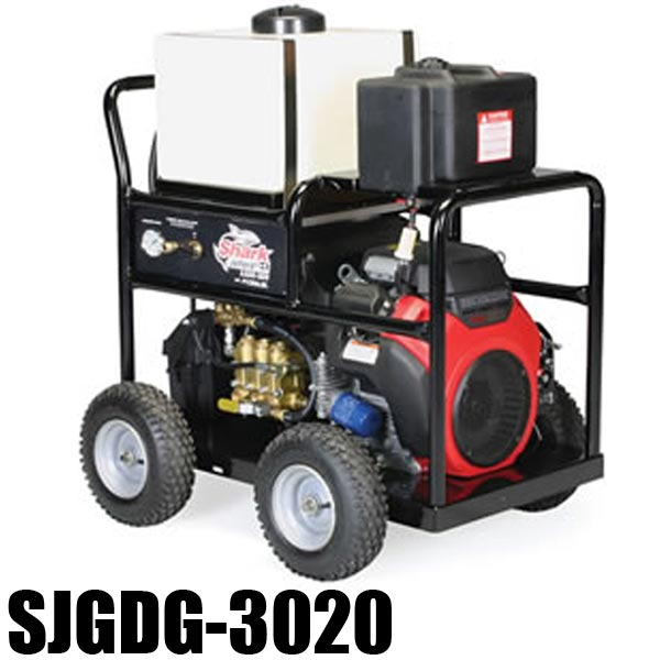 Shark SJGDG-3020 - 1.107-061.0 - Gas Engine Jetter - 8.0 GPM - 3000 PSI - 614cc Honda Engine - Triplex Direct-Drive PUMP - 375lbs
