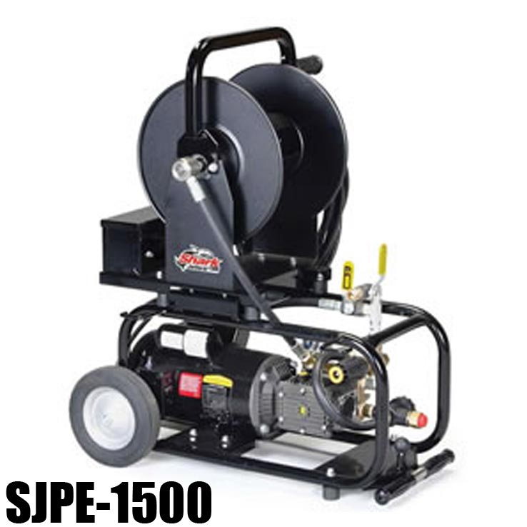 Shark SJPE-1500 (Base Model) 1.106-046.0 Electric Sewer Jetter - 1500 PSI - 1.7 GPM - 1-1/2hp Motor 1725 RPM - Triplex Pump - 105lbs