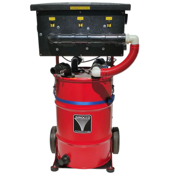 Sirocco PEV3/30 Portable Electric Vacuum Pressure Washer Recovery 300cfm Tiple 3 stage 135in Water Lift 30 gallon