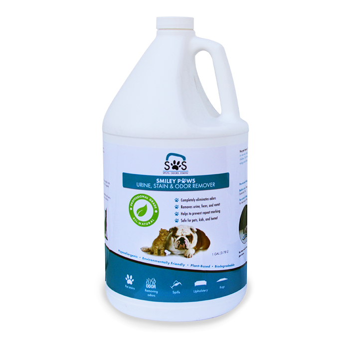 SOS StainOut Systems 865183000114 Smiley Paws Pet Urine Odor and Stain Remover 1 Gallon