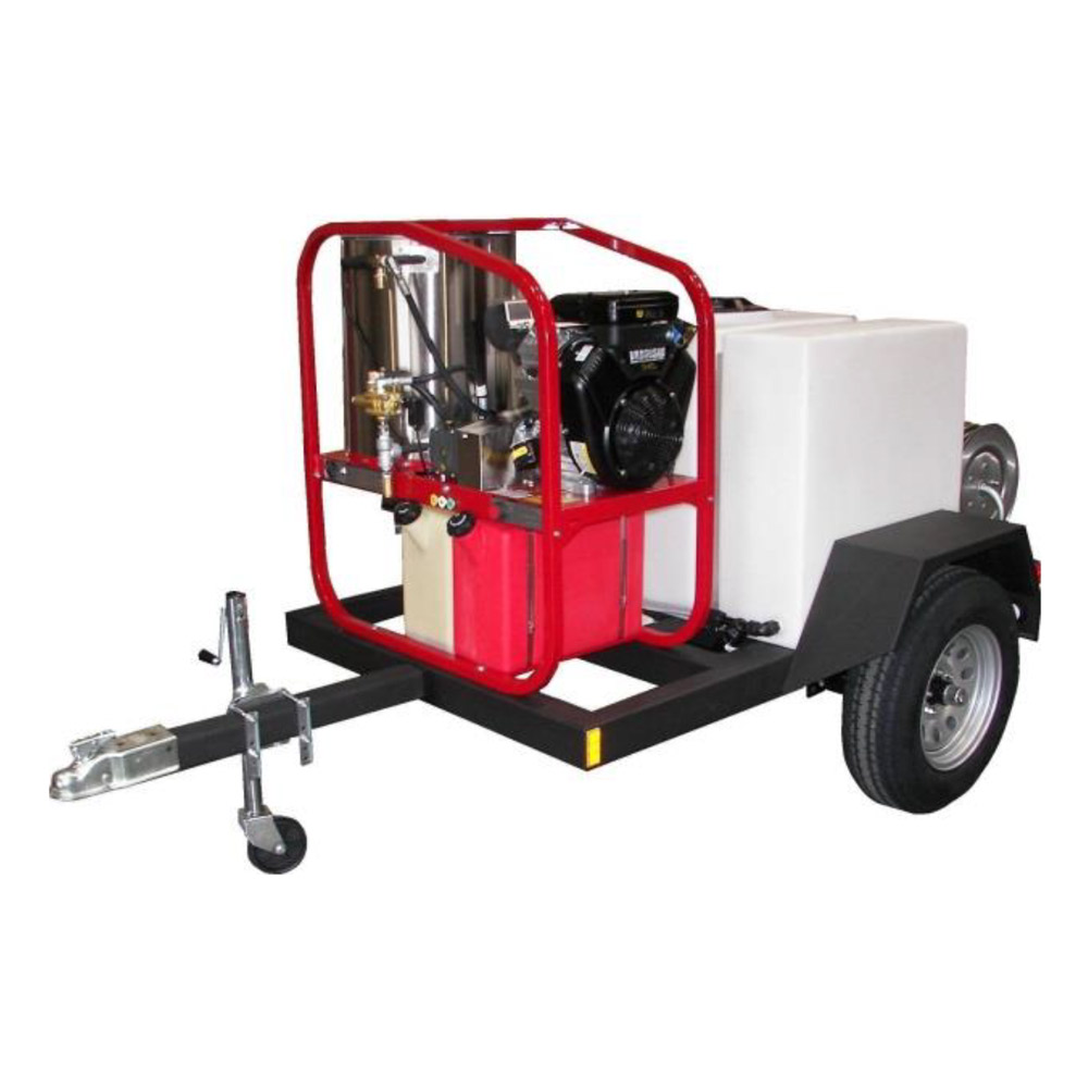 Hydrotek Hot2Go T185SKH-SK30005VH HOT Pressure Washer Trailer 5 gpm 3000 psi 16 Hp Shipping Included.