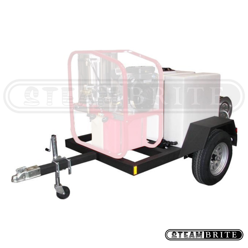 Hydrotek Hot2Go T185SKH: HOT Pressure Washer Trailer 200 gallon tank and reels Only