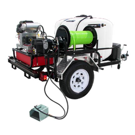Pressure Pro TRHDCJ/VB5535VG HD Tow Pro Sewer Jetter Jetting Trailer 5.5 gpm 3500 psi 18 Hp Vanguard General HD Pump (Discount Shipping)