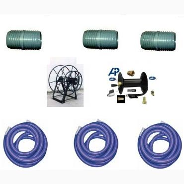 Truckmount Live Reel System Triple reel with 160 ft HOSES 20170330 (Includes 3000 psi Hoses)