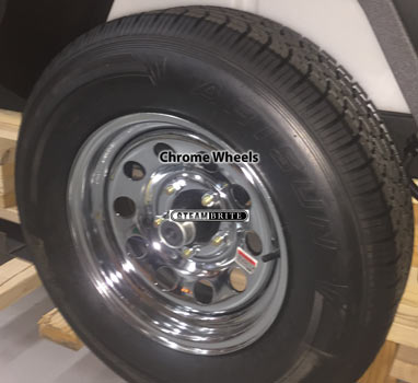 Hydrotek TTC14 Spare Tire and Chrome Wheel for Trailer