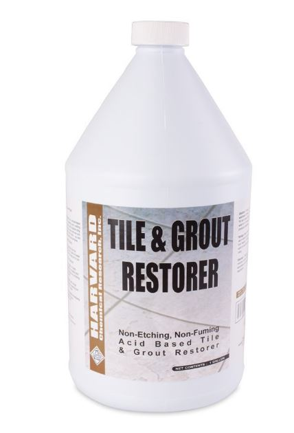 Harvard Chemical Tile&Grout Restorer Acid Restoration Cleaner Case 4/1 Gallon Bottles 113104-4