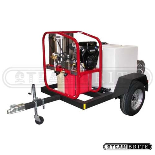Hydrotek Hot2Go T185SKH-SK30005VH HOT Pressure Washer Trailer 5 gpm 3000 psi FREE Shipping 16 Hp