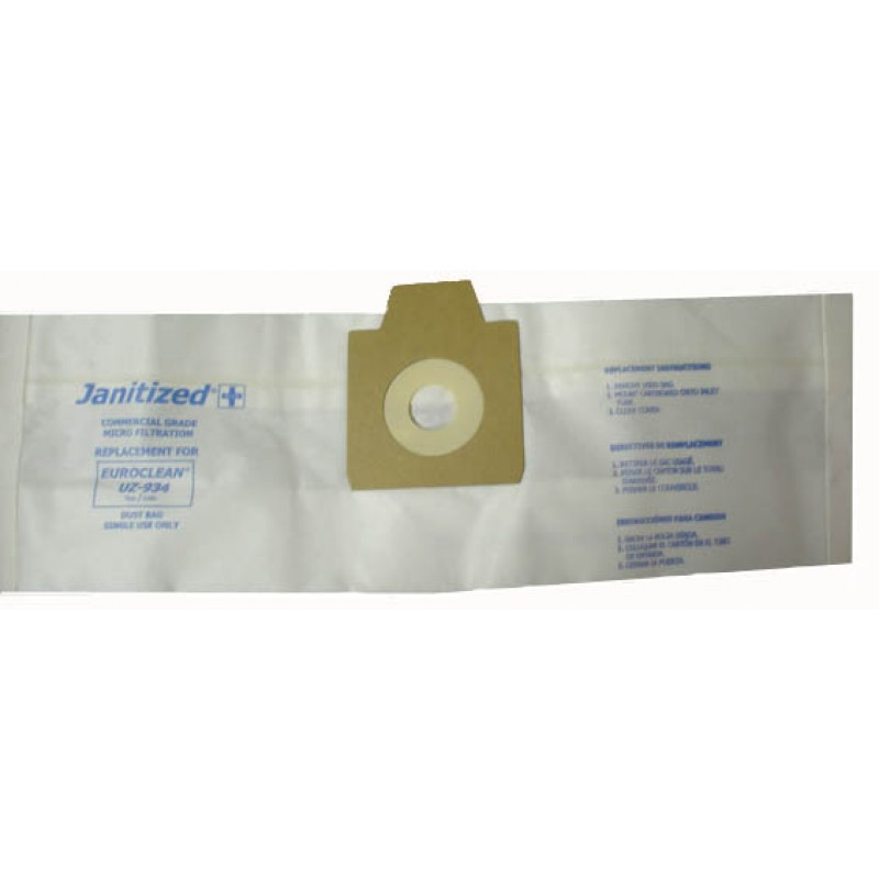 Janitized Nilfisk/Advance UZ934 Clarke, Euroclean Paper Filter Vacuum Bags, 10/Pack (8.684-846.0)