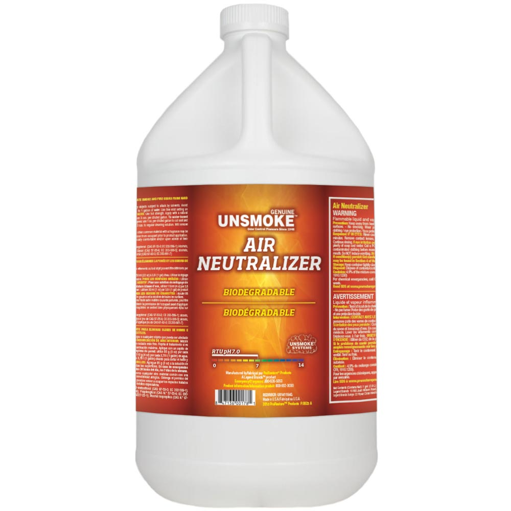 Chemspec U0141164G Unsmoke Air Neutralizer 4/1 Gallon Case Freight Included