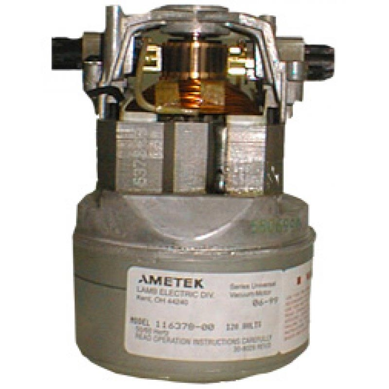 Ametek Lamb 116378-00 Vacuum Motor 4.3in Diameter 120V Vacuum Motor Thru-Flow Design 2 Stage 8.660-304.0