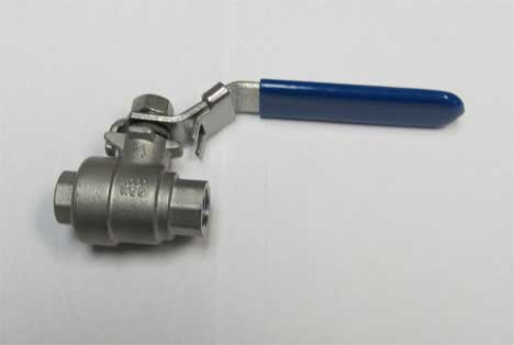 Ball Valve: 1/4in - Female X Female 1000 psi Stainless Steel With Locking Handle 777897130867