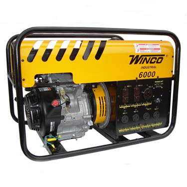 Winco Generators: WC6000HE-Industrial Portable Generators, 6000/5500 Watt, 120 Volt, 3 HP, Honda/OHV Engine