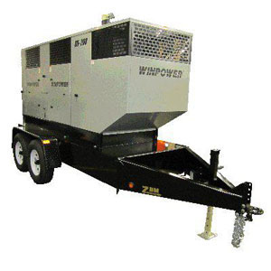 Winco DX130 Mobile Diesel Electrical Generator with Trailer 1800rpm 130kw FREIGHT INCLUDED