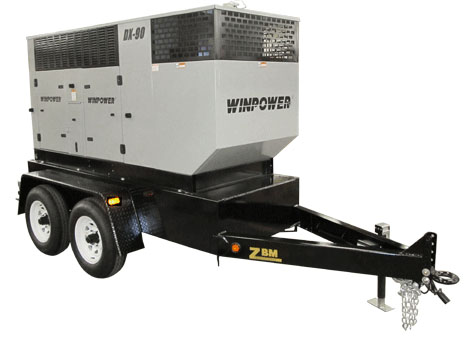 Winco DX90 Mobile Diesel Electrical Generator with Trailer 1800rpm 90kw    FREE SHIPPING