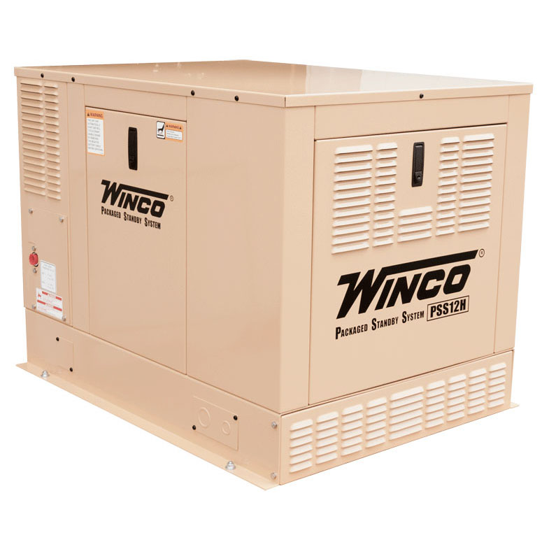 Winco PSS12H2W/E Emergency Electrical Standby Generator Air Cooled            Free Shipping