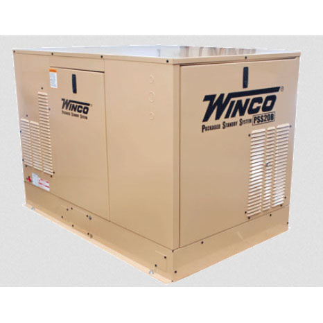 Winco PSS20B2W Emergency Electrical Standby Generator Air Cooled Free Shipping