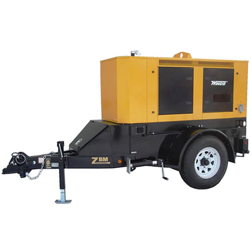 Winco RP25 Mobile Diesel Power Trailer Generator 20000 Watts 10 HP Isuzu/4LE1 Engine Single Axle 3500 LBS