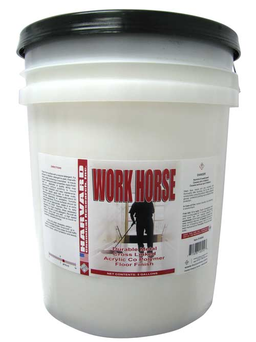 Harvard Chemical Work Horse Acrylic Floor Finish 5 Gallons 5149