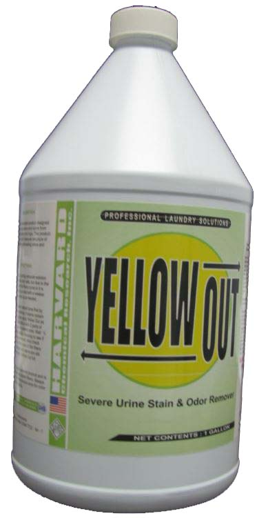 Harvard Chemical Yellow Out Urine Stain Remover Case 4/1 Gallon Bottles 3503-4