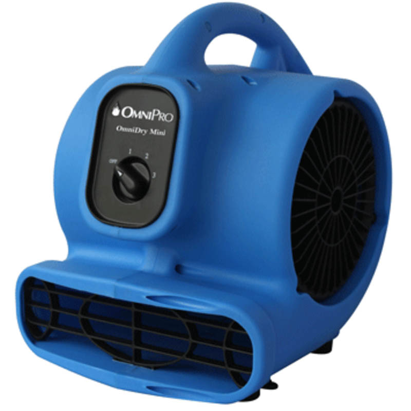 Hydroforce AC085 OmniDry Mini Air Mover - 2.3Amp, 1/5 HP, 3 Speed, GFCI XPower P-230AT