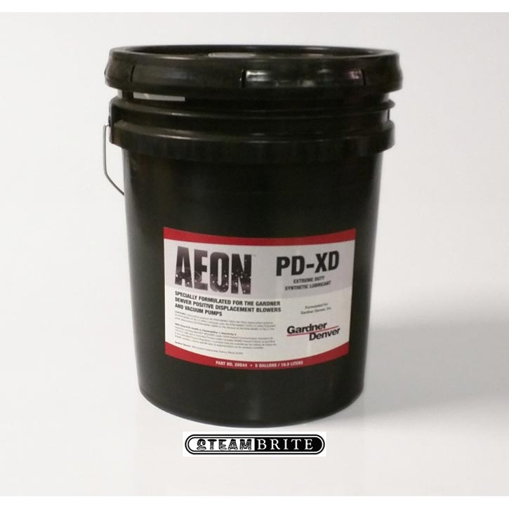 Gardner Denver 28G44 Brand Blower Oil Aeon PD-XD Full Synthetic Formula Extra Heavy Duty for High Heat Applications 5 Gal Pail