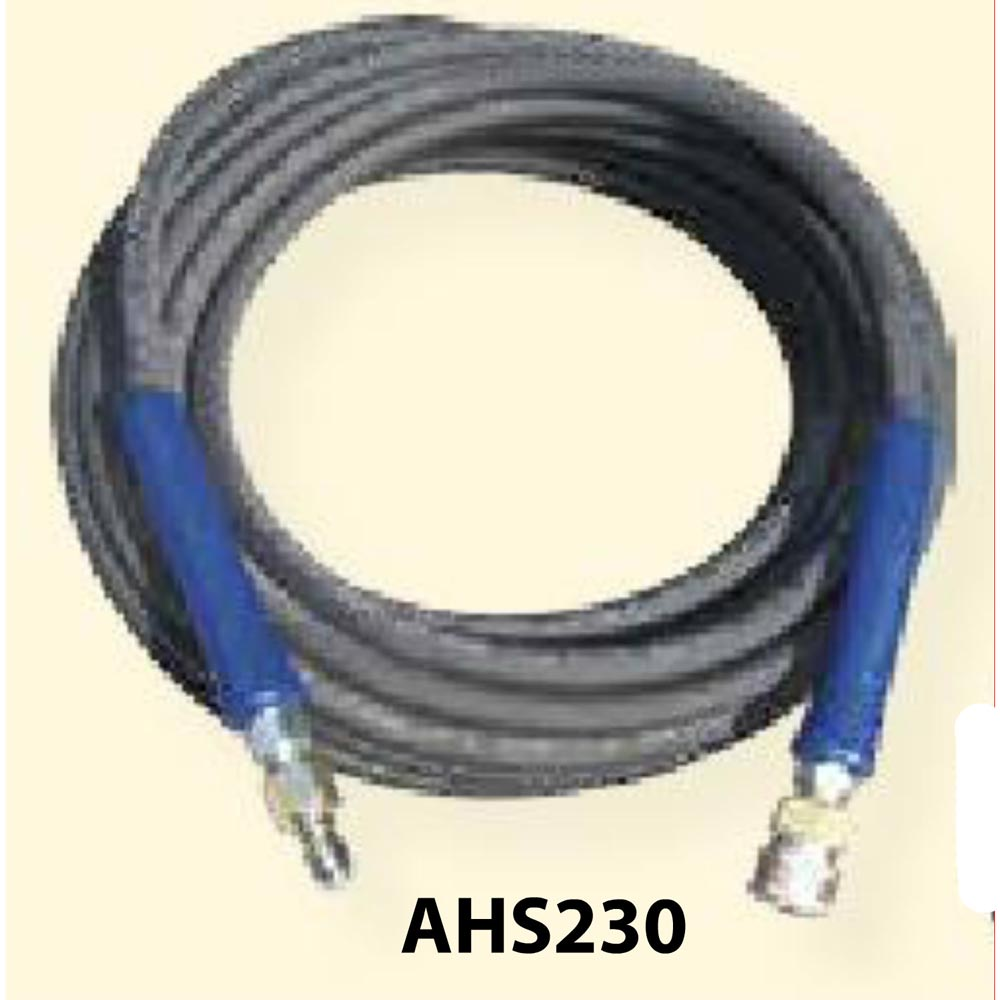 Pressure Pro AHS245 – 3/8 ID x 200′ Black Hose with Quick Connects Max. 4000 PSI psi Assembly 1 Wire