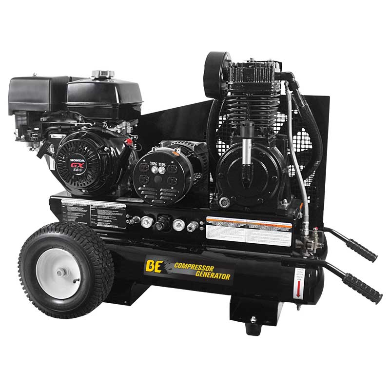 BE Pressure Air Compressor and Generator Combo Gasoline 15.7 CFM Plus 3500 Watts Canada Only