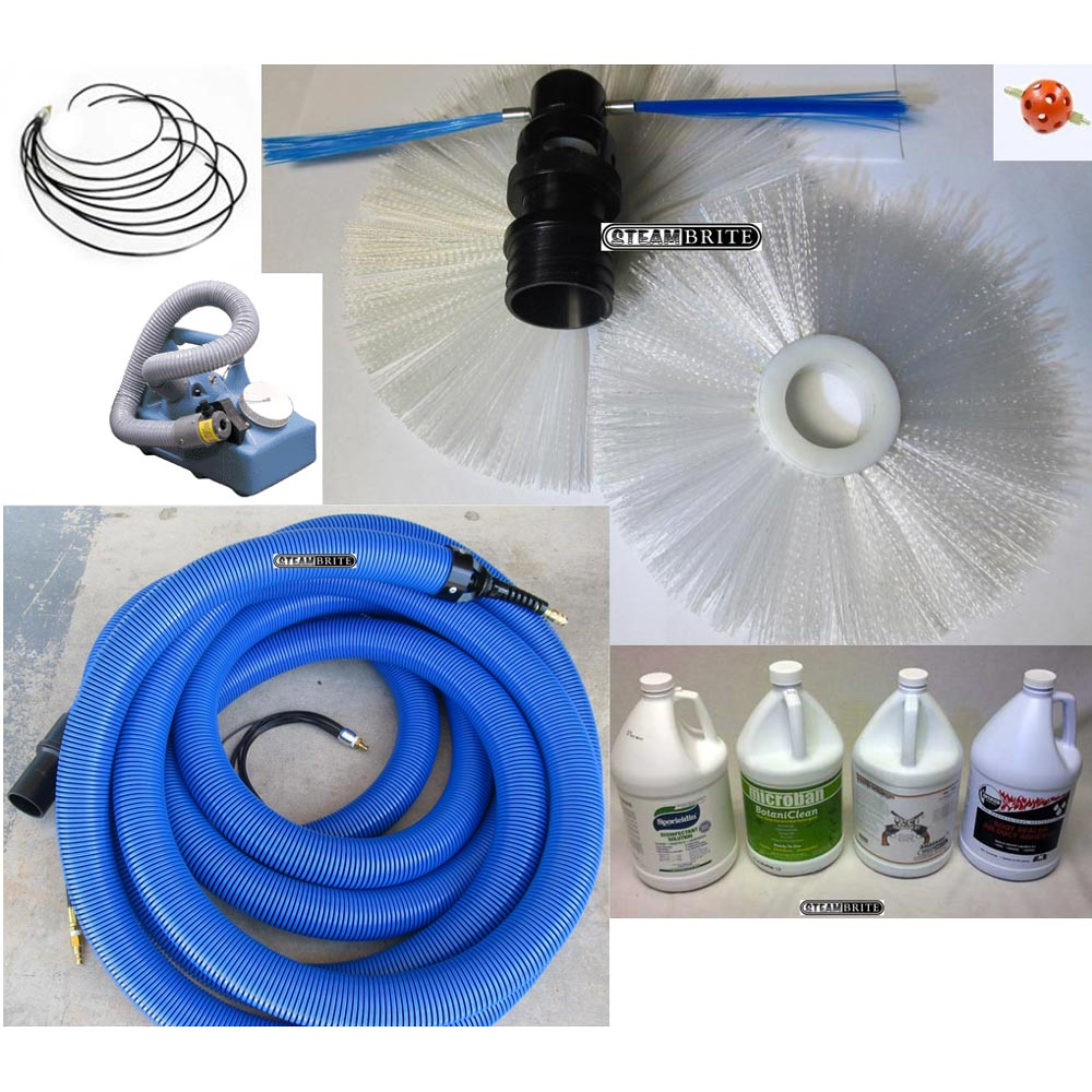 Clean Storm Vacu-Whip Air Duct Cleaning Start Up Kit for Carpet Cleaners 20151204