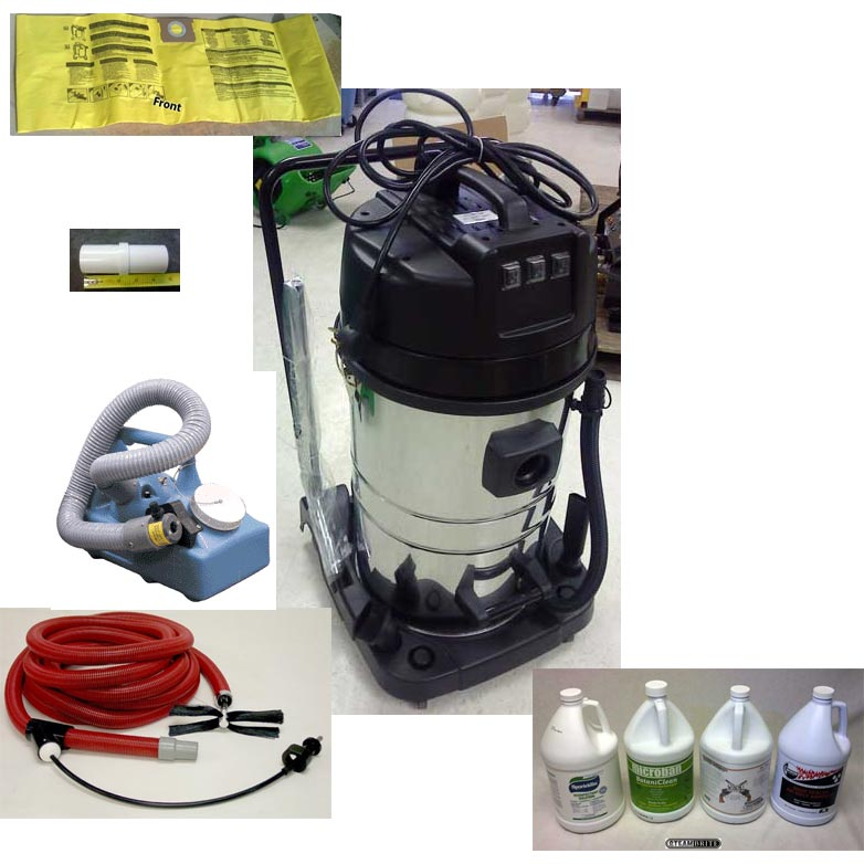 -Clean Storm Air Duct Starter Package with Triple Motor HEPA Vacuum 20140304