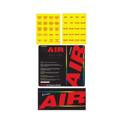 JE Adams 8430-1AKIT Decal for Air machines