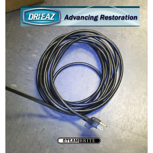 Drieaz 08-00226 Air Mover and Dehumidifier Power cord 115v 16/3 wire SJTW Jacket 5-15P Plug 25 ft long with Clip