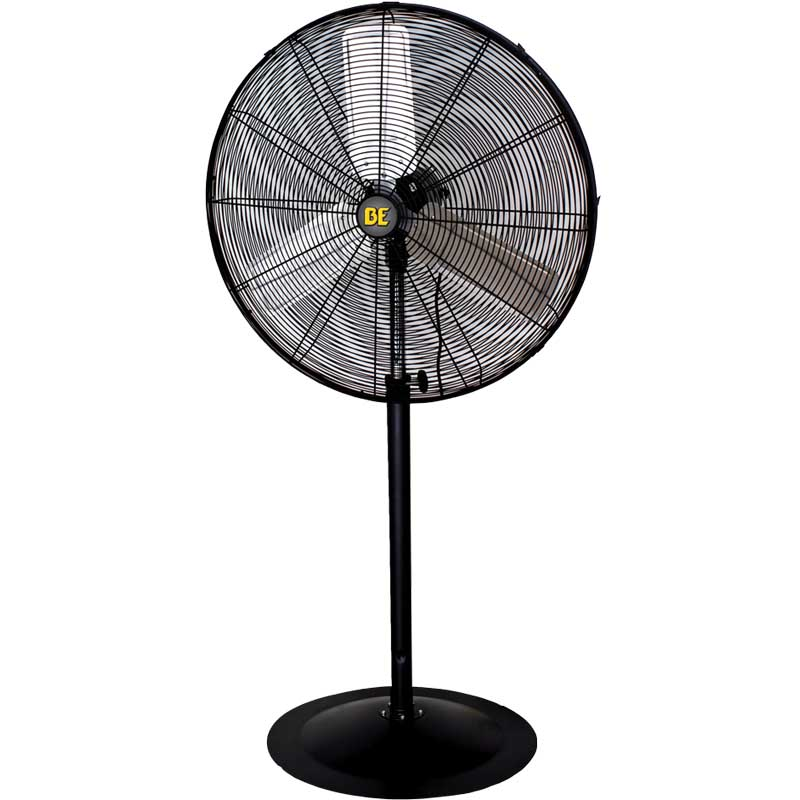 BE Pressure Supply 30in Pedastal Fan - 8750 CFM Oscillating