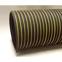 "Nikro: #860415 - 10"" x 25' Heavy Duty Black & Yellow Flex Duct"