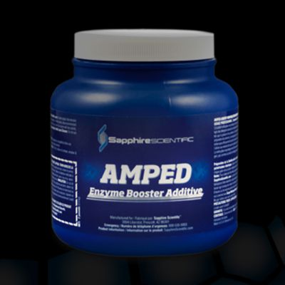 Chemspec Sapphire Scientific 76-010 Amped Enzyme Booster Additive (12/1 Cas of 2LB Jars)