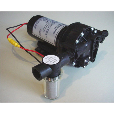Aquatec 12 Volt 4.2 gpm 45psi AP63 Truck Mount Water Transfer Pump 5 Chamber Head 15 Amp Max Draw Mytee C361