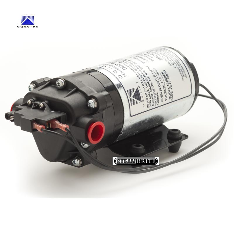 aquatec 120 psi water pump 115v 1 3 gpm mytee c305 for carpet rh steam brite com Water Pump Switch Diagram RV Water Pump Diagram