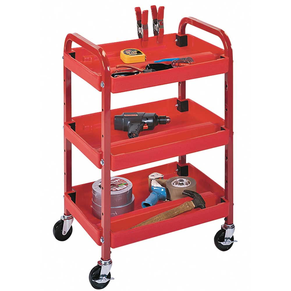 Luxor: Three Shelf Adjustable Activity Cart