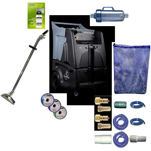 Nautilus MX200M 12gal 200psi Dual 2 Stage Vacuum Carpet Cleaning Machine Hose Package FREE Shipping