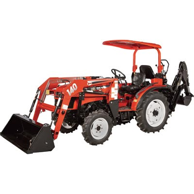 NorTrac 511256 25XT 25 HP Tractor with Front Loader and Backhoe